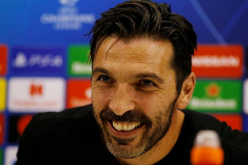 Paris St Germain's Gianluigi Buffon during the press conference at Stadio San Paolo, Naples, Italy, on Nov 5, 2018.