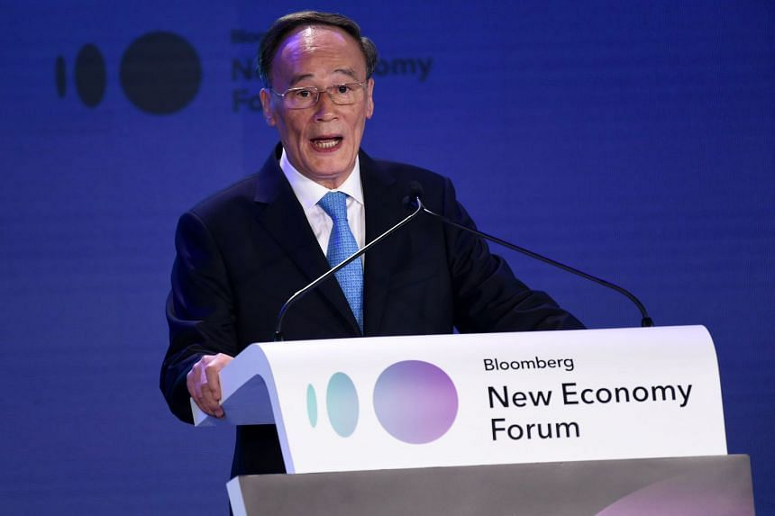 In his speech at the first Bloomberg New Economy Forum on Nov 6, Chinese Vice-President Wang Qishan was forceful in denouncing trade unilateralism, while espousing the importance of settling any disputes through a rules-based system.