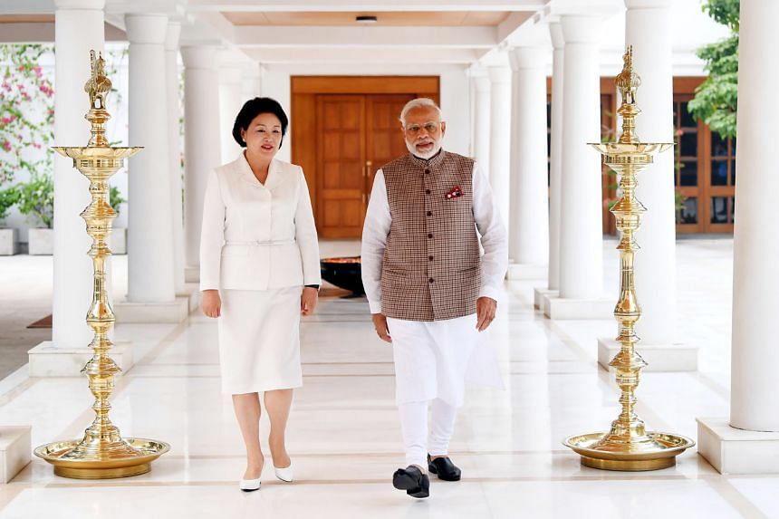 South Korean First Lady Kim Jung-sook, who met Indian Prime Minister Narendra Modi in New Delhi yesterday, is also scheduled to visit the Taj Mahal in Agra.