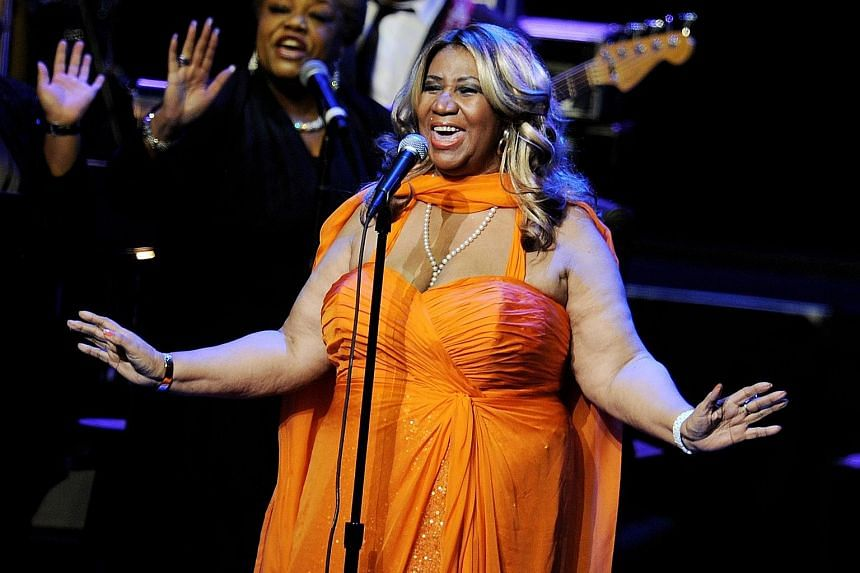 Aretha Franklin performing in July 2012. The 87-minute documentary Amazing Grace was shot in 1972 at a Baptist church in Los Angeles as the Queen of Soul recorded an album that became a best-selling gospel record.
