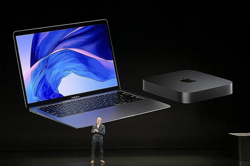 Apple chief executive Tim Cook at an event last month at Howard Gilman Opera House in New York City, where the new MacBook Air, Mac mini and iPad Pro were announced.