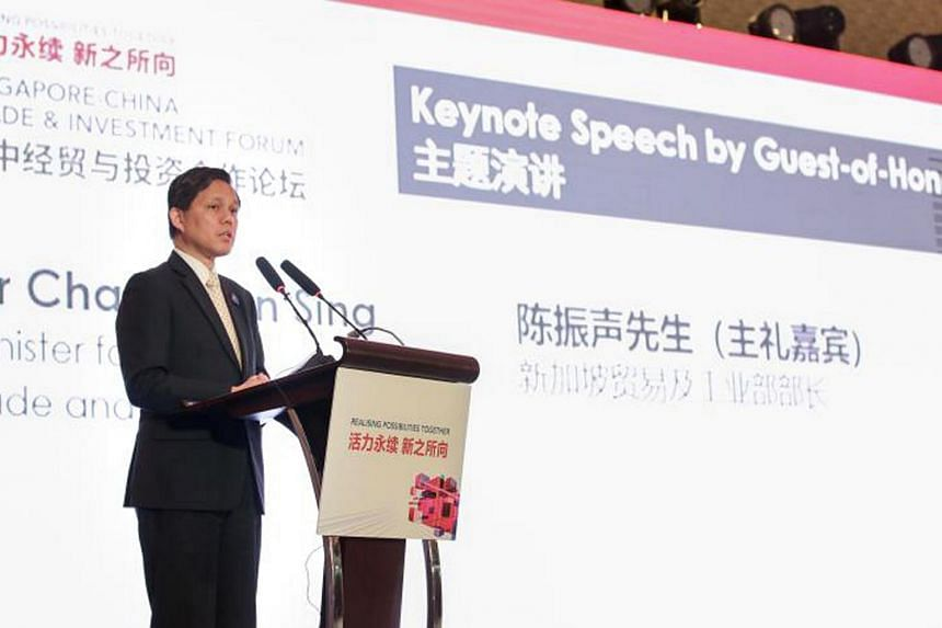 Minister for Trade and Industry Chan Chun Sing noted that in any stage of development of the Chinese economy, there will be many challenges, but one should not write China off just because of this.