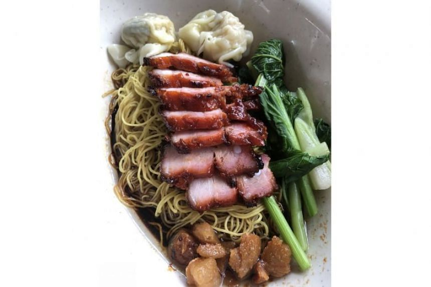 Enjoy lard-filled wonton mee at Chef Kang's Noodle House in the canteen of Jackson Square in Toa Payoh (11 Lorong 3 Toa Payoh).