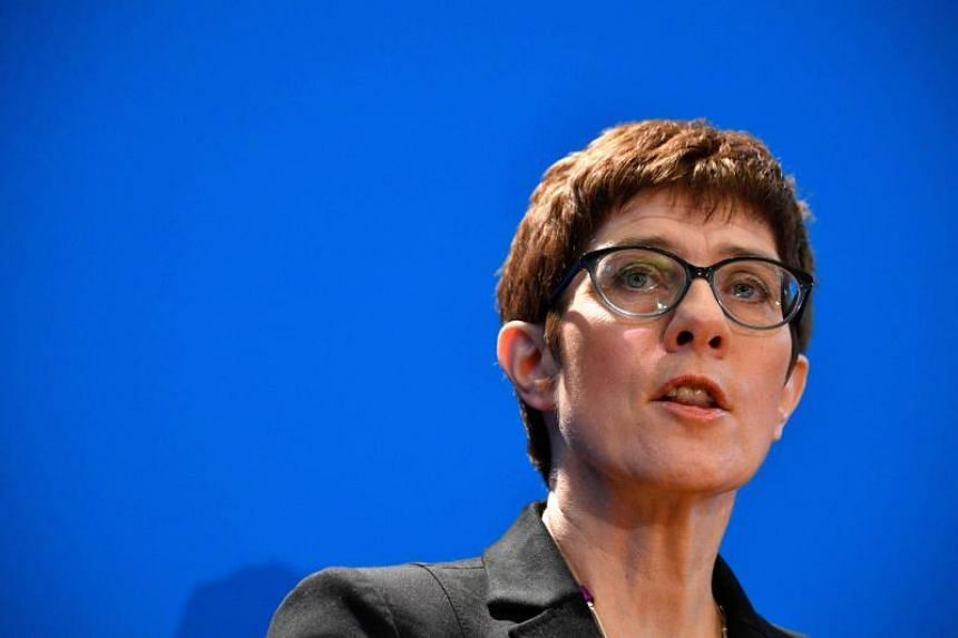 Ms Annegret Kramp-Karrenbauer is running in December to take over as head of the centre-right Christian Democratic Union.