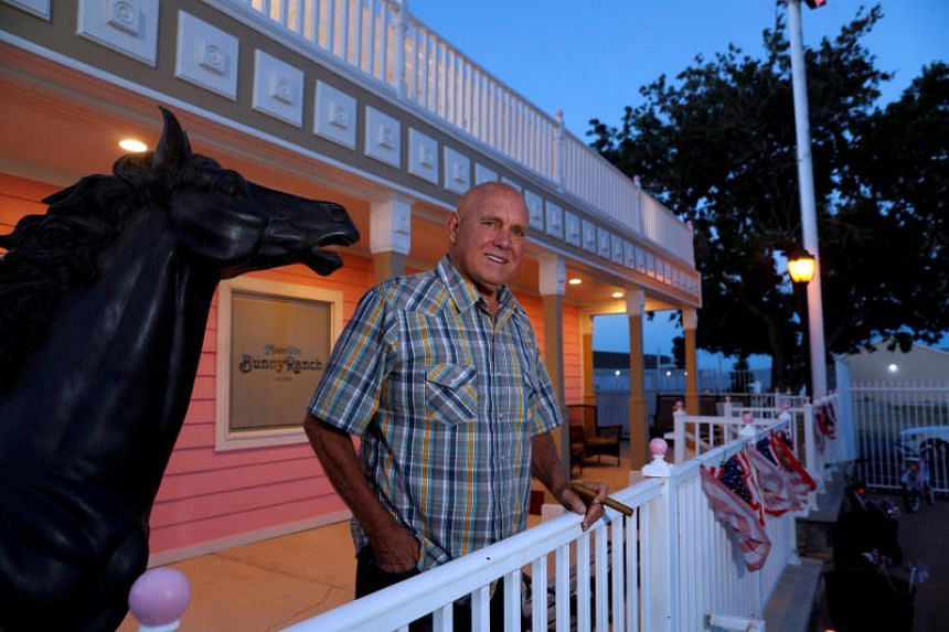 Dennis Hof, who owned the Moonlite BunnyRanch legal brothel and was a Republican candidate for Nevada State Assembly District 36, outside the brothel in Mound House, Nevada, US, June 16, 2018.