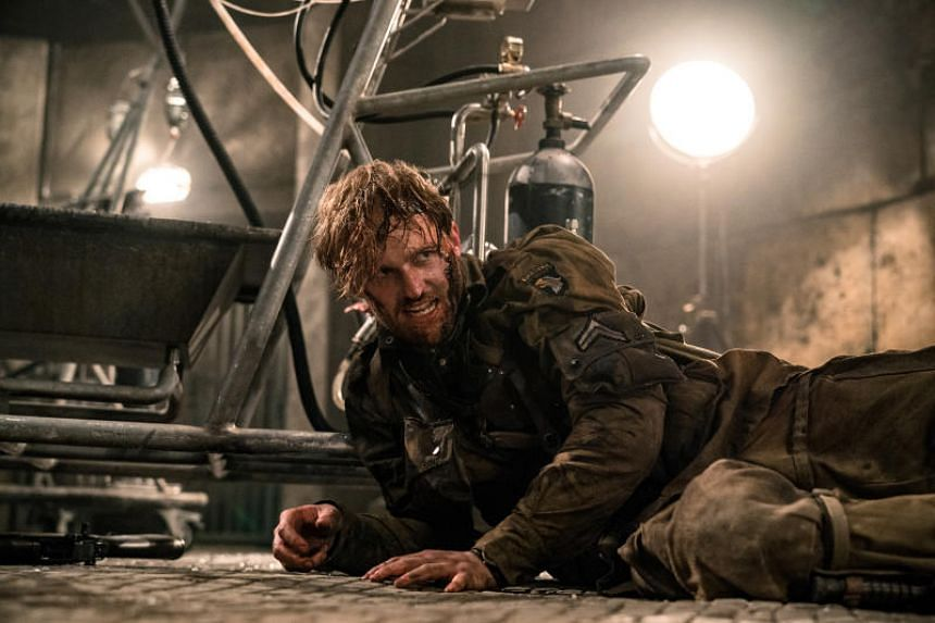 American actor Wyatt Russell plays the character of Ford, a veteran hardened to mercy, in the film Overlord.