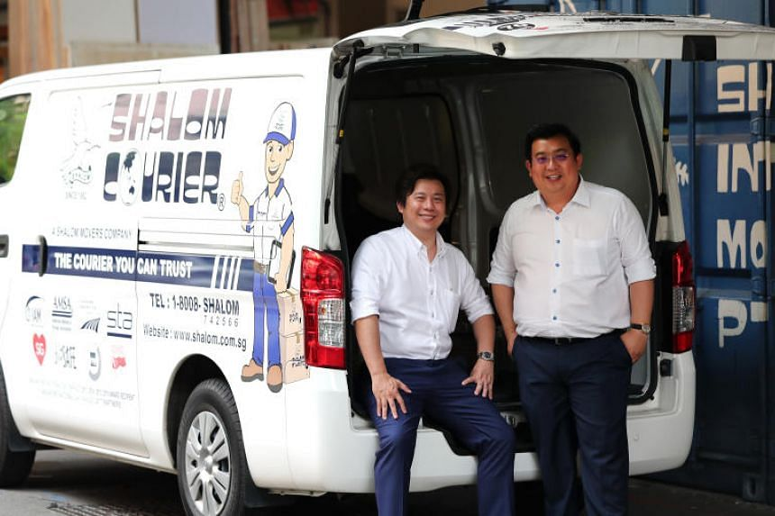 Chief operating officer Gabriel Lam (left) and chief executive officer Gideon Lam  of Shalom International Movers, one of 13 companies recognised for their exceptional workplace practices.
