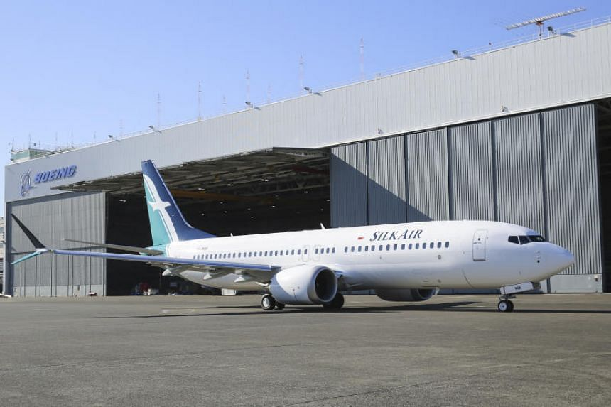 SilkAir's Boeing 737 Max 8 plane. SilkAir said that it has checked all its Boeing 737 planes, after a Lion Air Boeing 737 Max 8 crashed on Oct 29, 2018.