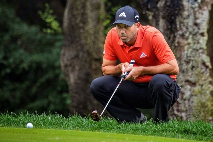 Garcia, fresh from victory at the Andalucia Valderrama Masters last month (above), carded eight birdies.