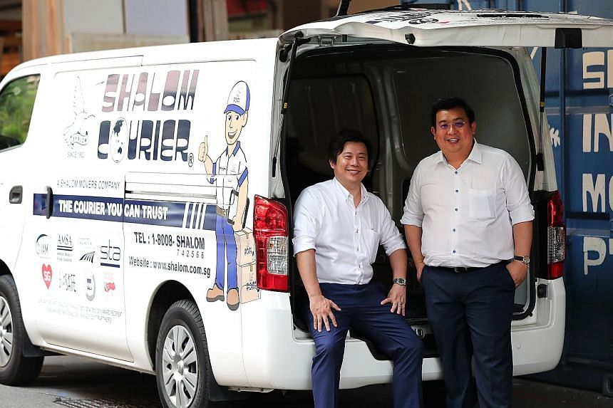 Shalom Movers chief operating officer Gabriel Lam (left) and chief executive officer Gideon Lam, who are brothers, believe in upgrading their workers' skills. Their company was one of two to be the first recipients of a new certification given out to