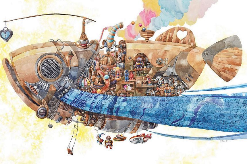 Collectable Happiness is the largest watercolour work done by artist William Sim.