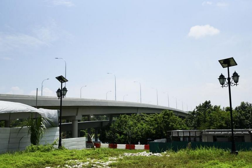 The design and construction of a 160m-long bridge spanning Sungei Serangoon - which would have normally taken about three years - was cut by up to nine months.