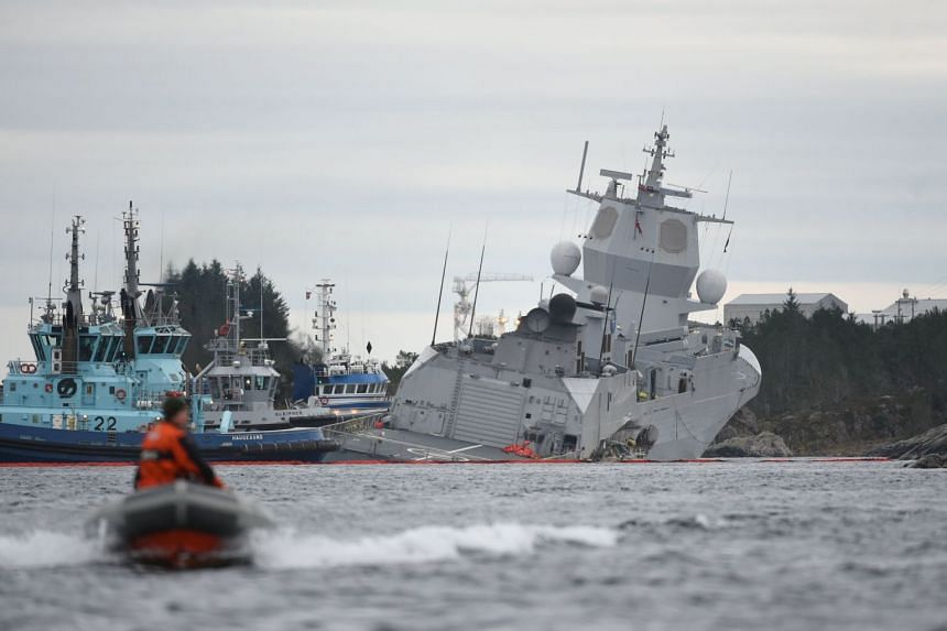 The KNM Helge Ingstad frigate, which was returning from Nato's Trident Juncture exercises, was evacuated after the collision with the Sola TS tanker.