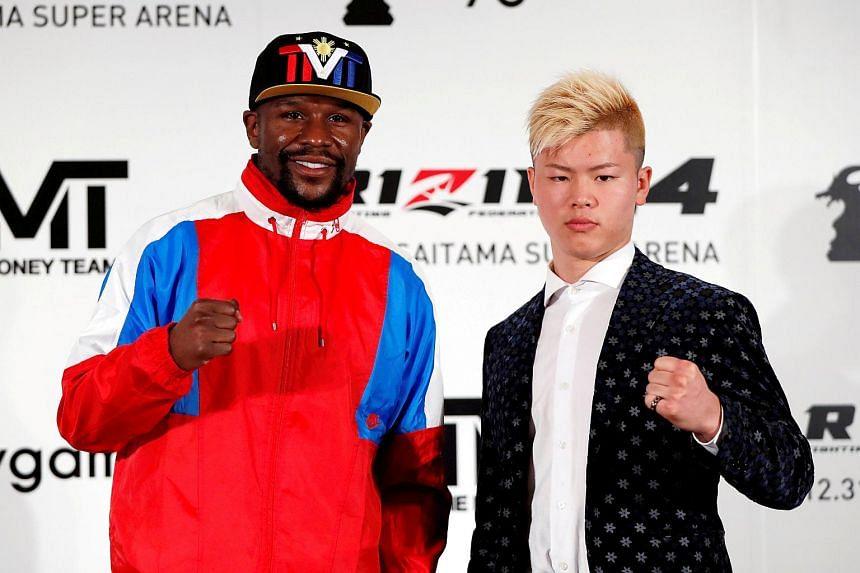 """Boxing superstar Floyd Mayweather said he had travelled to Japan last week to participate in a private bout against Japanese kickboxer Tenshin Nasukawa for a """"small group of wealthy spectators for a very large fee."""""""