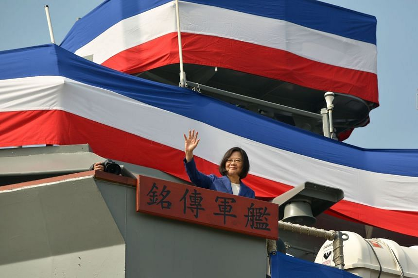 Taiwanese President Tsai Ing-wen vowed to continue enhancing the navy's capabilities in order to defend the island.