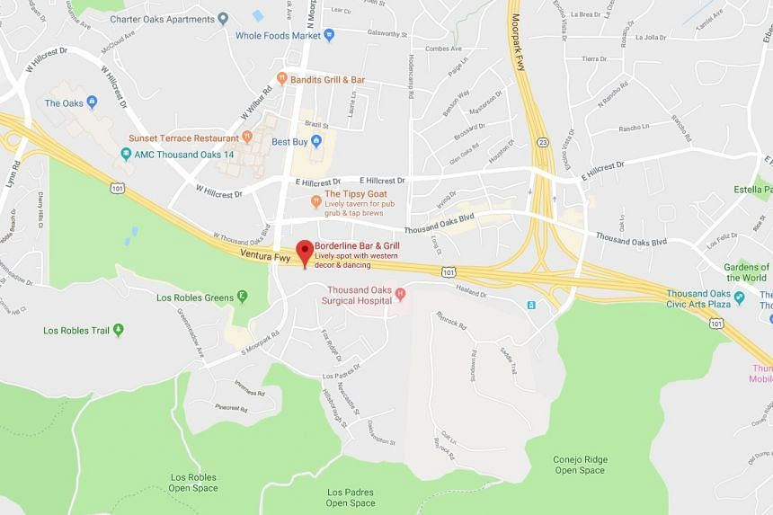 The incident was reported at the Borderline Bar and Grill in the town of Thousand Oaks, a quiet, upscale residential suburb of Los Angeles, as it hosted an event for college students.