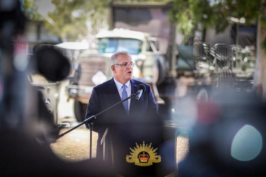 Australia's Prime Minister Scott Morrison in the House of Representatives at Parliament House in Canberra on Oct 22, 2018.