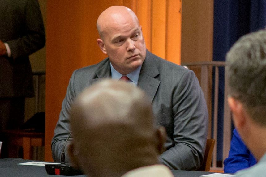 Democrats have demanded that Whitaker (above) step back from Mueller's continuing investigation based on his past criticism of the probe.