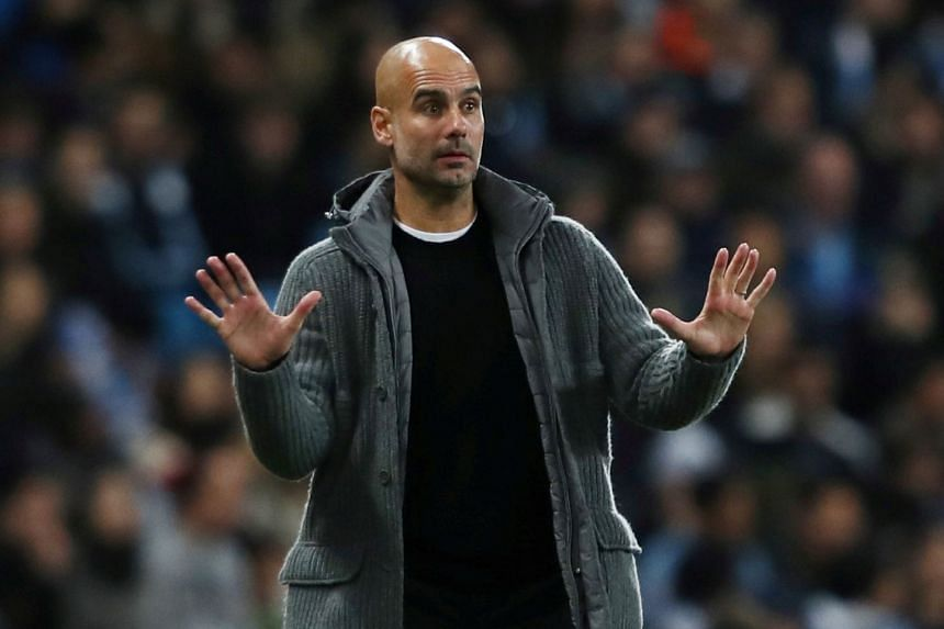 Guardiola (above) believes the fixture has come too soon to have significant bearing on the title race.