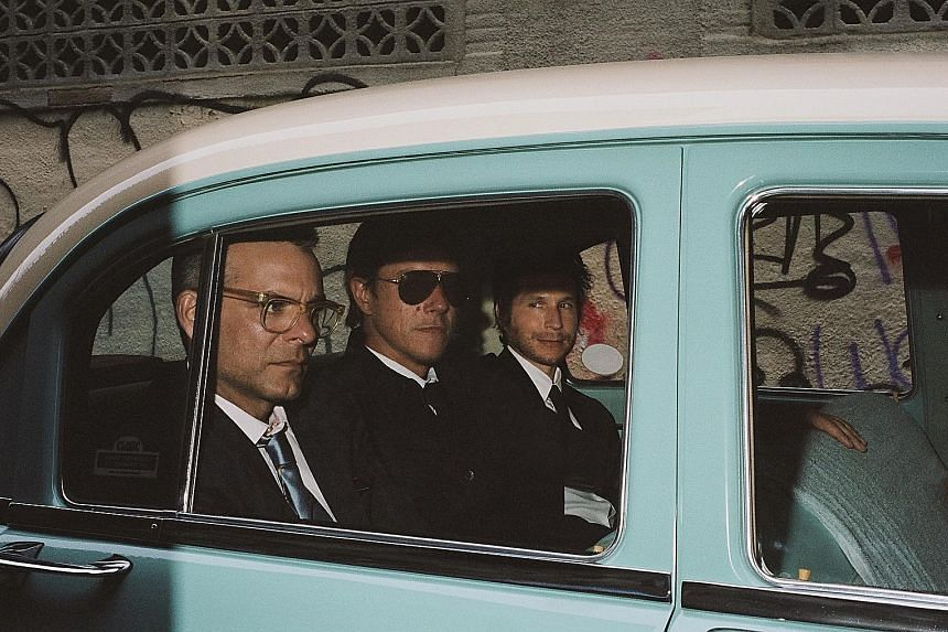 American rock band Interpol (comprising, above from left, Sam Fogarino, Paul Banks and Daniel Kessler)