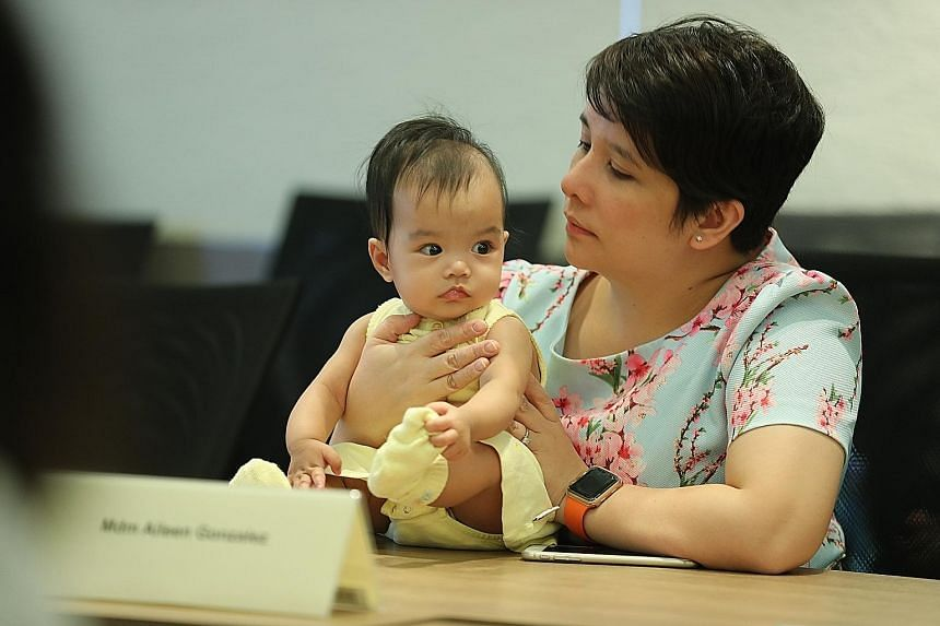 Madam Aileen Gonzalez with her baby, Taliyah Foo, who benefited from the donated milk. Most recipients were premature babies.