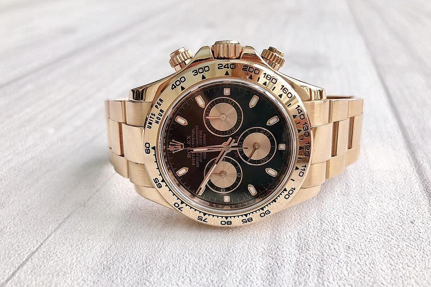 Ms Tjin Lee wants to pass her Rolex down to her son.