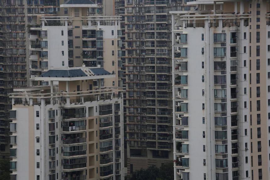 Apartments in downtown Shenzhen, China. There are up to more than 50 million empty homes in China, said Professor Gan Li.