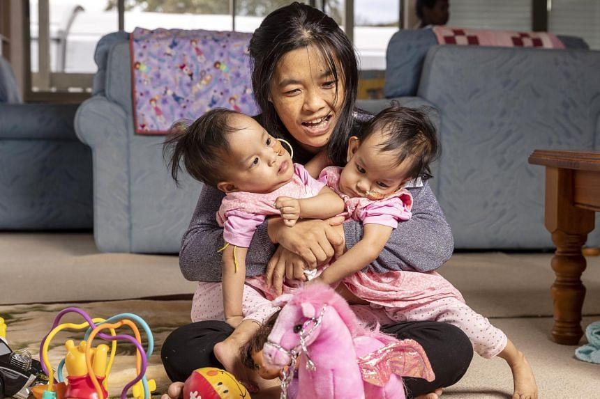 Nima and Dawa, and their mother Bhumchu Zangmo, arrived in Australia a month ago with the help of an Australian charity.