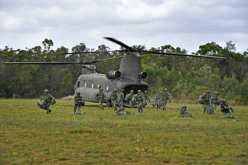 A rehearsal for the advance party's landing was conducted on Nov 9, 2018, in the Shoalwater Bay Training Area in Queensland where Exercise Trident is conducted.