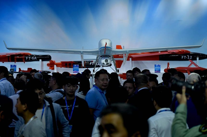 A model of a CH-902 drone on display at the Airshow China 2018 in Zhuhai, Guangdong province, China, on Nov 6, 2018.
