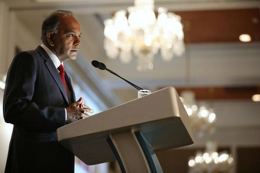 Law and Home Affairs Minister K. Shanmugam said the article suggested Singapore was reluctant to investigate the 1MDB scandal - which was untrue.