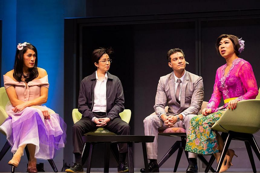 (From left) Shane Mardjuki, Zee Wong, Jason Godfrey and Chua Enlai in Private Parts, restaged by Michael Chiang Playthings.