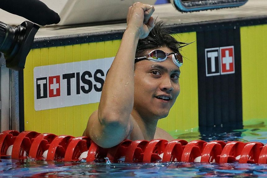 """Olympic champion Joseph Schooling said he will train in Singapore """"for the foreseeable future""""."""
