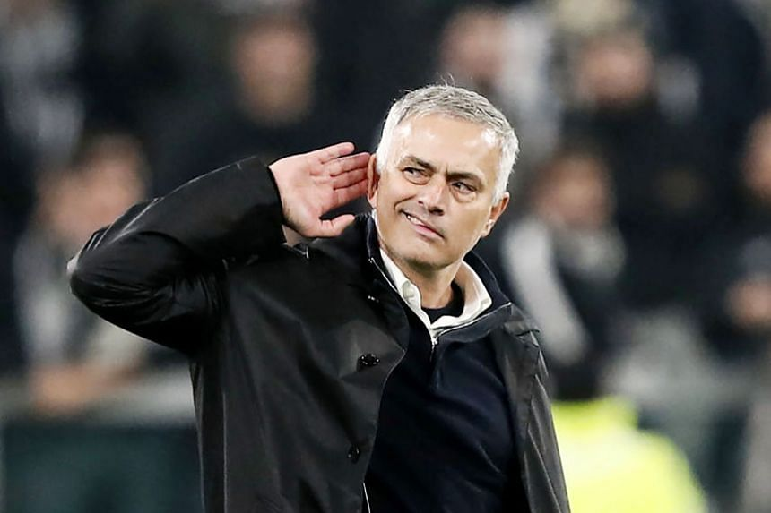 Juventus' Leonardo Bonucci (above) scoring an own goal for Manchester United's winner after a goalmouth scramble in the 89th minute of the English team's 2-1 away win. Red Devils manager Jose Mourinho was up to his usual tricks, taunting the home fan