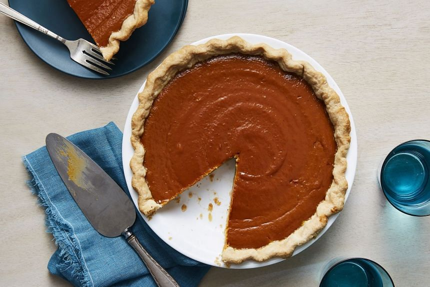 Spiced pumpkin pie. This modern take on the traditional Thanksgiving dessert accentuates the bold taste of ginger.