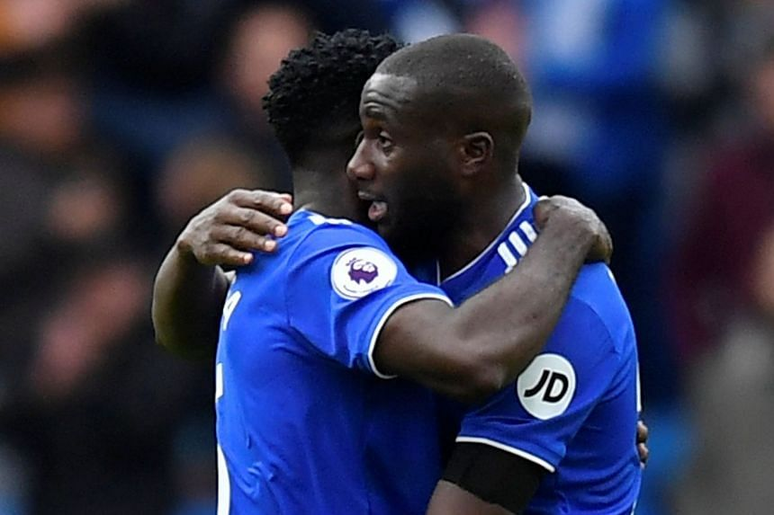 Cardiff City's Sol Bamba celebrates after the match.