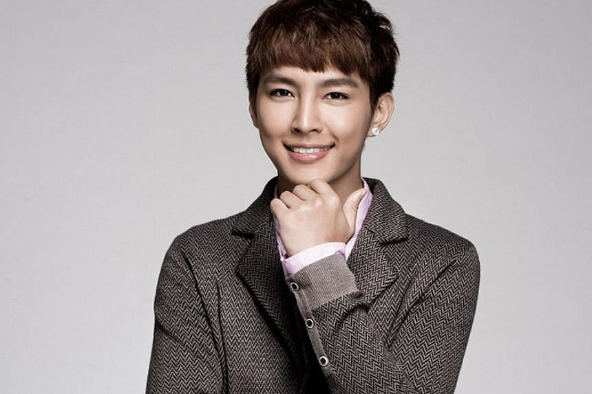 A man known as Mr A claims that Fahrenheit singer Aaron Yan (above) cheated on him, dating two other men at the same time.