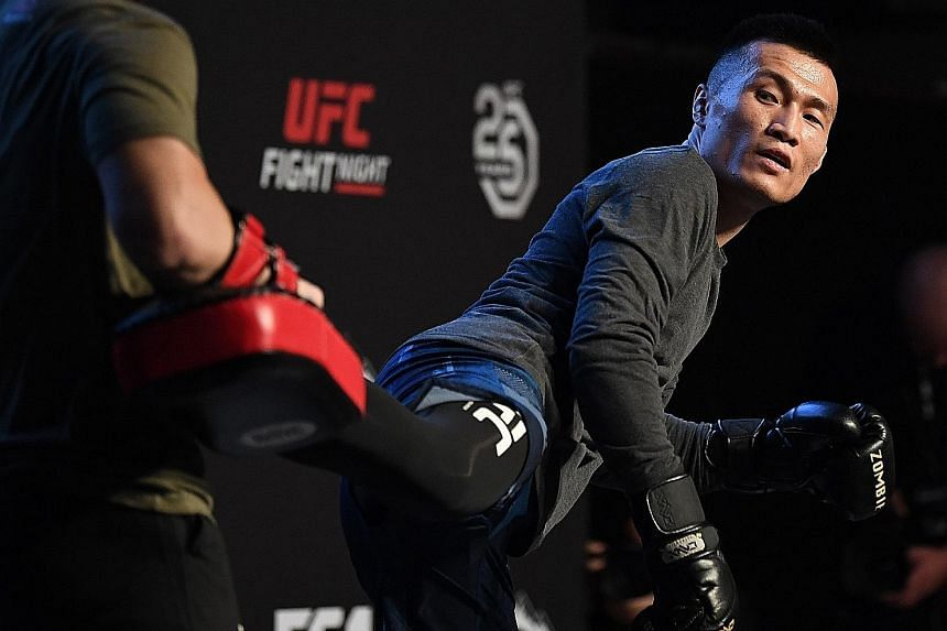 """""""Korean Zombie"""" Jung Chan-sung will be meeting Mexican Yair Rodriguez in UFC Fight Night 139's main event in Denver tonight. Rodriguez is also making a comeback after a long layoff."""