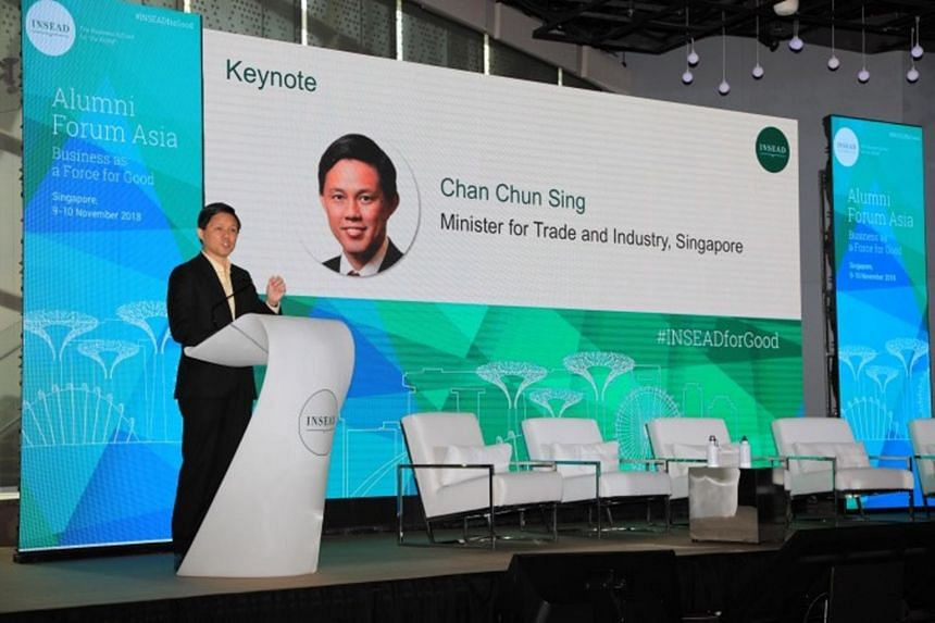 Minister for Trade and Industry Chan Chun Sing's speech delved into the topic of corporate social responsibility and the challenges involved.
