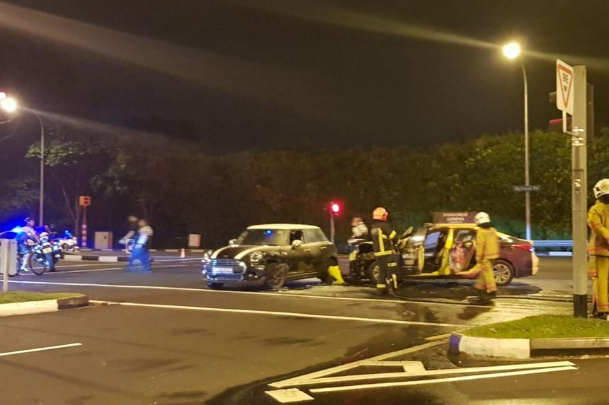 The accident, which involved a car and a taxi at the junction of North Buona Vista Road and Holland Road, occurred at 11.30pm.