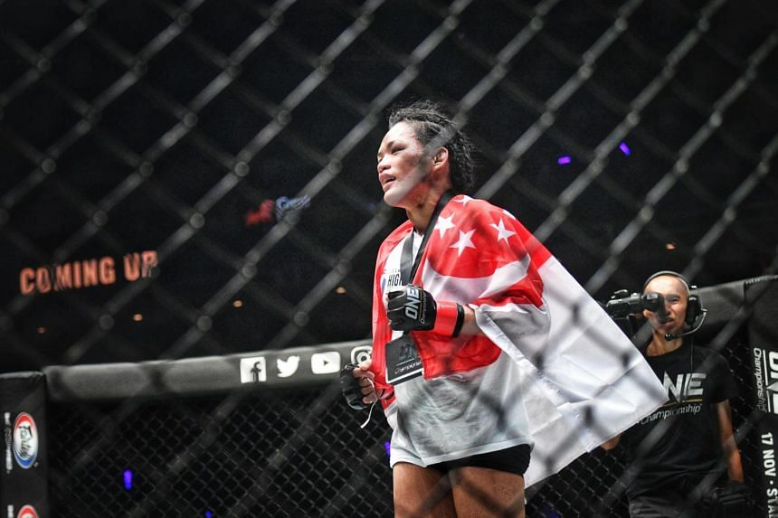 Tiffany Teo (above) had earned respect and praise for the way she refused to give up in her defeat by China's Xiong Jingnan in their strawweight title clash in Jakarta in January.