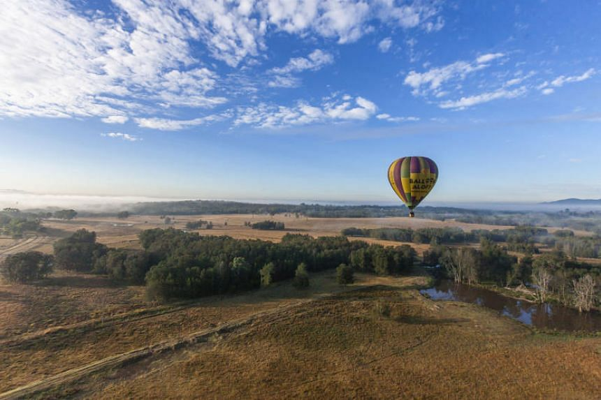 A hot-air balloon ride in Hunter Valley, New South Wales.