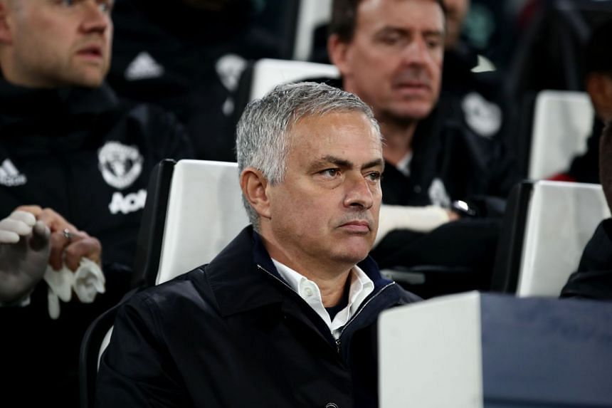 Manchester United's Portuguese manager Jose Mourinho watches the Uefa Champions League group H football match Juventus vs Manchester United, on Nov 7, 2018.