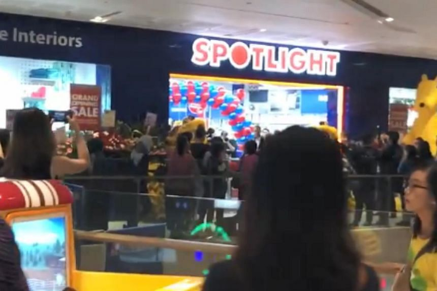 Nearly 300 shoppers were in the queue outside its new store on the third floor even before the store opened.