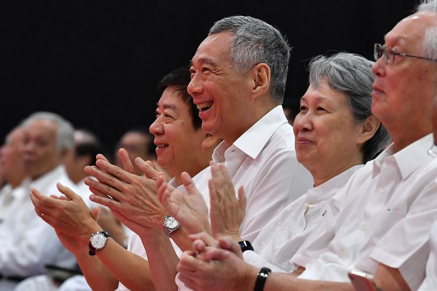 Party Secretary-General Lee Hsien Loong at the PAP Conference and Awards Ceremony at Singapore Expo, Hall 8 on Nov 11, 2018.  ST PHOTO: LIM YAOHUI