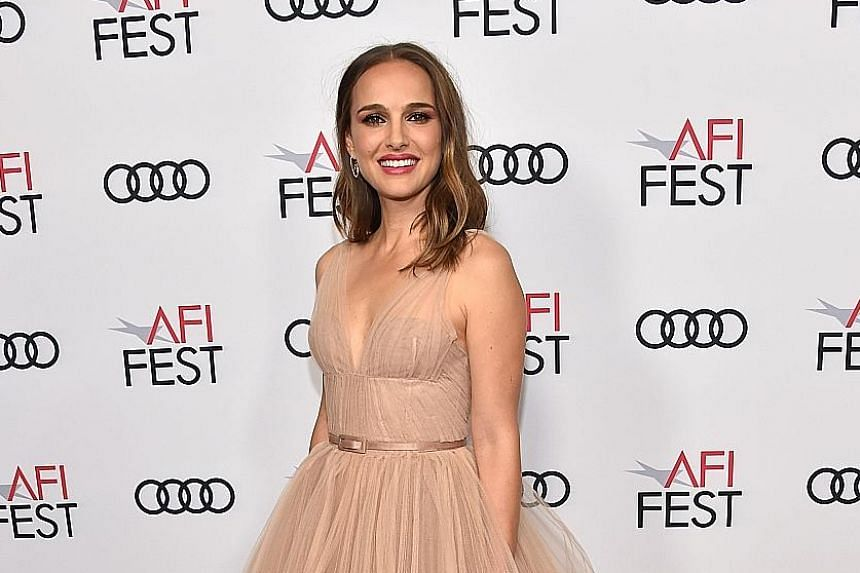 Actress Natalie Portman at the screening of Vox Lux at the AFI Festival last Friday, held at the Egyptian Theatre in Hollywood. The 37-year-old stars in the film as a woman who survives a tragedy and finds fame after penning a song about the incident