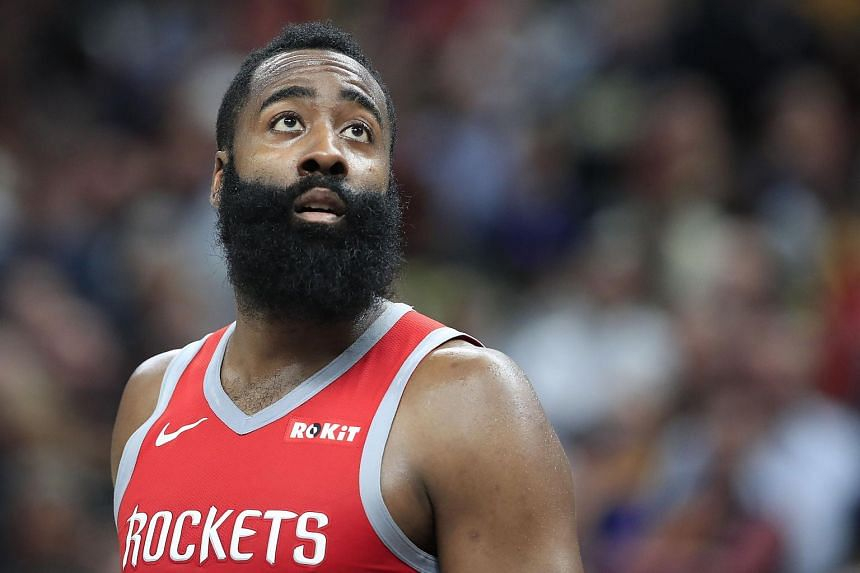 Basketballer James Harden scored a game-high 40 points, but also racked up a season-high nine turnovers.