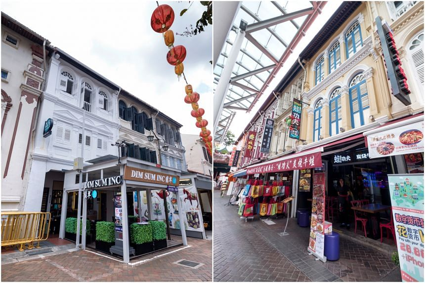The two shophouses are a freehold and a 99-year leasehold property located respectively at 31 and 76 Pagoda Street.