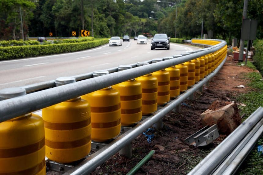 The rails resemble the rolling barrier system, a road safety feature, seen in several countries including Malaysia, Australia and the US.