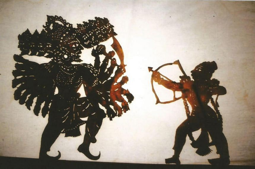 "Ravan Chhaya – Shadow Puppetry of Orissa, which translates to ""shadow of Ravan"", the demon-king defeated by Rama at the end of the Ramayana."